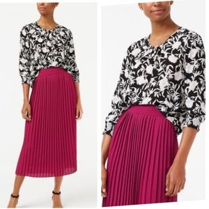 J crew Black Long-sleeve Top With Smocked Cuffs